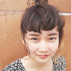 簡単ヘアアレンジ ショート 前髪あり ヘアアレンジ ヘアスタイルや髪型の写真・画像