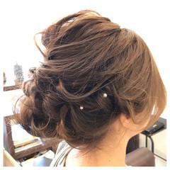 簡単ヘアアレンジ ミディアム ヘアアレンジ ヘアピン ヘアスタイルや髪型の写真・画像
