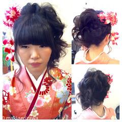 ロング 和装 袴 謝恩会 ヘアスタイルや髪型の写真・画像