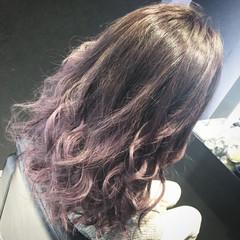 アッシュ グラデーションカラー ストリート セミロング ヘアスタイルや髪型の写真・画像
