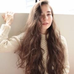 ロング パーマ ウェーブ パンク ヘアスタイルや髪型の写真・画像