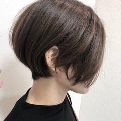 前下がりボブ ショートボブ ハンサムショート ショート ヘアスタイルや髪型の写真・画像