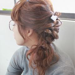 三つ編み ショート 卵型 簡単ヘアアレンジ ヘアスタイルや髪型の写真・画像