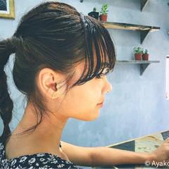 外国人風 ショート ミディアム ヘアアレンジ ヘアスタイルや髪型の写真・画像