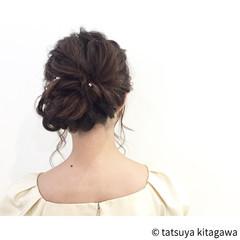 フェミニン 花嫁 結婚式 ヘアアレンジ ヘアスタイルや髪型の写真・画像
