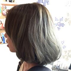 外国人風 ボブ ストリート グラデーションカラー ヘアスタイルや髪型の写真・画像