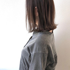 ミディアム ミディアムヘアー 大人ハイライト 3Dハイライト ヘアスタイルや髪型の写真・画像