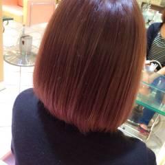 パープル グラデーションカラー ピンク 秋 ヘアスタイルや髪型の写真・画像