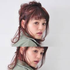 大人かわいい ヘアアレンジ ミディアム 外国人風 ヘアスタイルや髪型の写真・画像