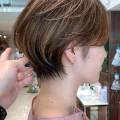 ナチュラル ベリーショート ショートヘア ショートボブ ヘアスタイルや髪型の写真・画像