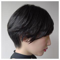 ベリーショート 艶髪 ショート ナチュラル ヘアスタイルや髪型の写真・画像