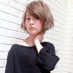 レイヤーカット 外ハネ 外国人風 モード ヘアスタイルや髪型の写真・画像