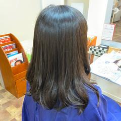 サラサラ 縮毛矯正ストカール セミロング 艶髪 ヘアスタイルや髪型の写真・画像