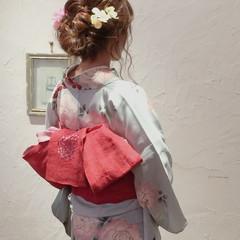 夏 ギブソンタック ヘアアレンジ パーティ ヘアスタイルや髪型の写真・画像