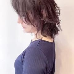 耳かけ ミディアム 外国人風 レイヤーカット ヘアスタイルや髪型の写真・画像