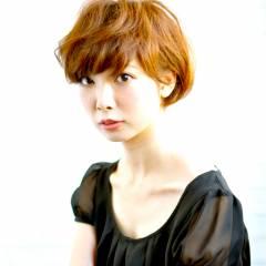 愛され ショート モテ髪 ナチュラル ヘアスタイルや髪型の写真・画像