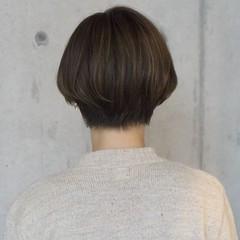 ナチュラル ショートボブ ショート ラフ ヘアスタイルや髪型の写真・画像