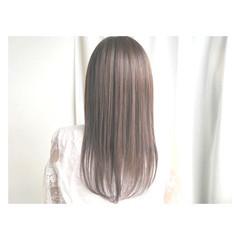 透明感 外国人風 ハイライト アッシュベージュ ヘアスタイルや髪型の写真・画像