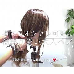 ナチュラル 簡単ヘアアレンジ ロング デート ヘアスタイルや髪型の写真・画像