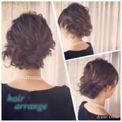 ヘアアレンジ パーティ ロング フェミニン ヘアスタイルや髪型の写真・画像