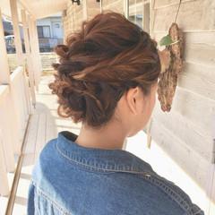 編みおろし フェミニン ヘアアレンジ 結婚式ヘアアレンジ ヘアスタイルや髪型の写真・画像