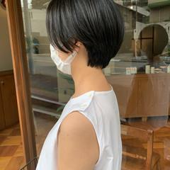 ナチュラル ハンサムショート 大人ショート ショート ヘアスタイルや髪型の写真・画像