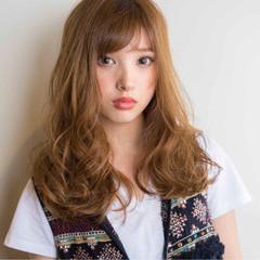 大人かわいい 外国人風 ロング ゆるふわ ヘアスタイルや髪型の写真・画像