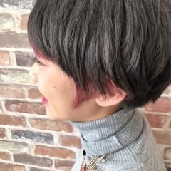 ブルージュ ピンク モード 暗髪 ヘアスタイルや髪型の写真・画像
