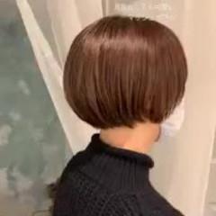 グラデーションカラー ショートヘア ショートボブ シースルーバング ヘアスタイルや髪型の写真・画像