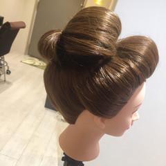 和装 ロング 和服 成人式 ヘアスタイルや髪型の写真・画像