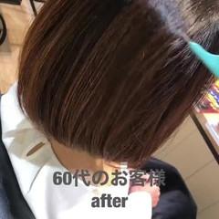 ナチュラル 髪質改善カラー ショートボブ 髪質改善 ヘアスタイルや髪型の写真・画像