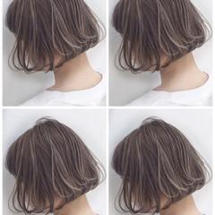 外国人風 ハイライト ストリート グレージュ ヘアスタイルや髪型の写真・画像