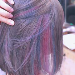 グラデーションカラー ヘアアレンジ ボブ インナーカラー ヘアスタイルや髪型の写真・画像