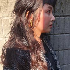 ウルフカット ロング ナチュラル ウルフ女子 ヘアスタイルや髪型の写真・画像