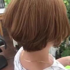 ゆるふわパーマ ショートボブ 大人ハイライト ショート ヘアスタイルや髪型の写真・画像