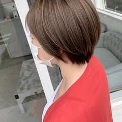 ショートボブ ナチュラル ショートヘア 透明感カラー ヘアスタイルや髪型の写真・画像