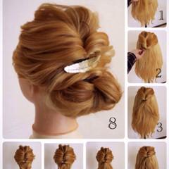 ヘアアレンジ 簡単ヘアアレンジ 外国人風 ショート ヘアスタイルや髪型の写真・画像