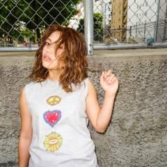ウェットヘア センターパート ストリート ミディアム ヘアスタイルや髪型の写真・画像