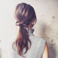 外国人風 ナチュラル ロング ヘアアレンジ ヘアスタイルや髪型の写真・画像