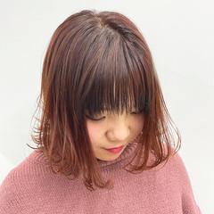 ラベンダーピンク フェミニン ラベンダーカラー デザインカラー ヘアスタイルや髪型の写真・画像