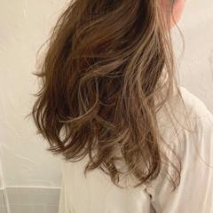 外国人風カラー ロング ハイライト エレガント ヘアスタイルや髪型の写真・画像