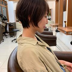 ハンサムショート  ふんわり ナチュラル ヘアスタイルや髪型の写真・画像