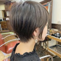 ナチュラル ショートヘア 耳かけ ショート ヘアスタイルや髪型の写真・画像