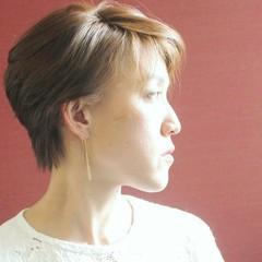 ショートボブ モード 透明感 ショート ヘアスタイルや髪型の写真・画像