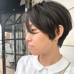ハンサムショート ショート オフィス ショートヘア ヘアスタイルや髪型の写真・画像