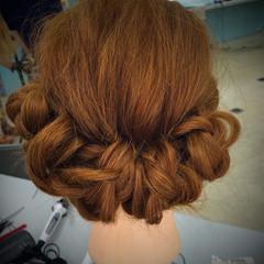 くるりんぱ ショート セミロング 簡単ヘアアレンジ ヘアスタイルや髪型の写真・画像