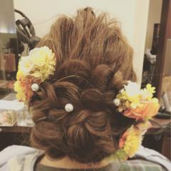袴 謝恩会 セミロング ヘアアレンジ ヘアスタイルや髪型の写真・画像