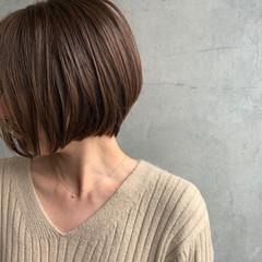 ナチュラル ショートボブ 内巻き ミニボブ ヘアスタイルや髪型の写真・画像