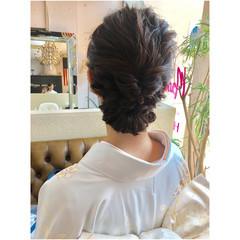ボブ シニヨン ヘアアレンジ フェミニン ヘアスタイルや髪型の写真・画像