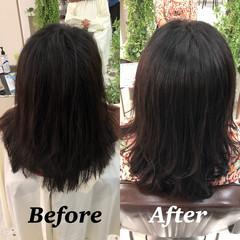 髪質改善トリートメント ナチュラル 髪質改善 セミロング ヘアスタイルや髪型の写真・画像